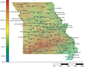 Missouri Frost Freeze Probabilities Guide University Of Missouri - Map of northern missouri