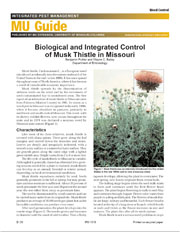 IPM1010: Biological and Integrated Control of Musk Thistle in Missouri