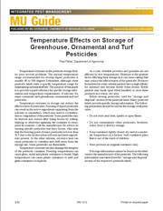IPM1012: Temp Effects on Storage of Greenhouse, Ornam and Turf Pesticides