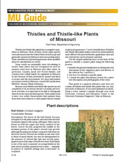 IPM1015: Thistles and Thistle-like Plants