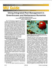 IPM1026: Using IPM in Greenhouses and Herbaceous Nurseries